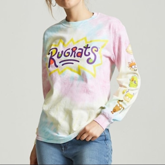 f29f843fb19e Forever 21 Tops - Rugrats Graphic Tie-Dye Long Sleeve